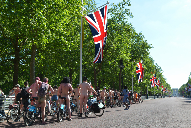 London Naked Bike Ride [safe version]